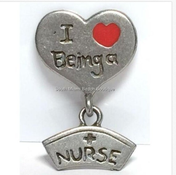 NURSE Caduceus Pin Brooch Tac Silver Pewter Nursing Graduation Gift RN LPN CNA