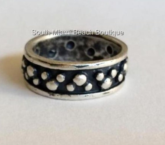 Disney Mickey Mouse Ears Ring Sterling Silver 925 Band Vintage RARE Size 7