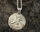 Fine Silver Initial Pendant Necklace