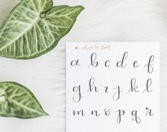 Traceable Alphabet to Practice Calligraphy | Digital Download | Pointed Pen and Dip Pen Practice | Printable