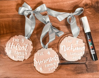 Custom Holiday Ornament & Gift Tags | Personalized Christmas Gift | Stocking Tag
