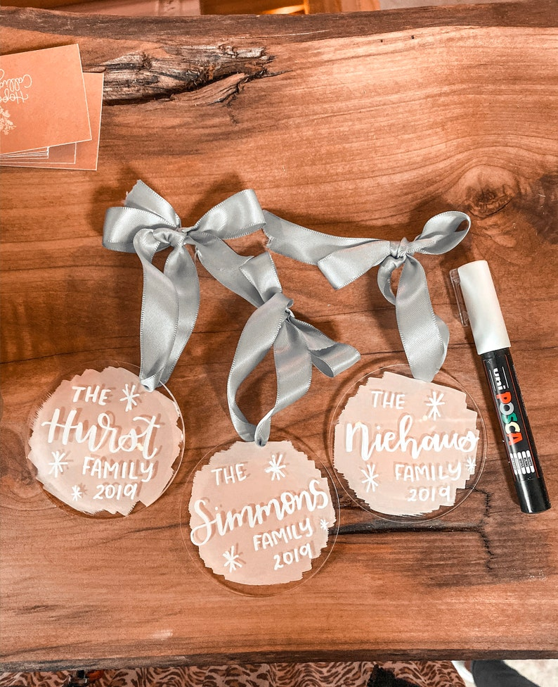 Custom Holiday Ornament & Gift Tags  Personalized Christmas image 0
