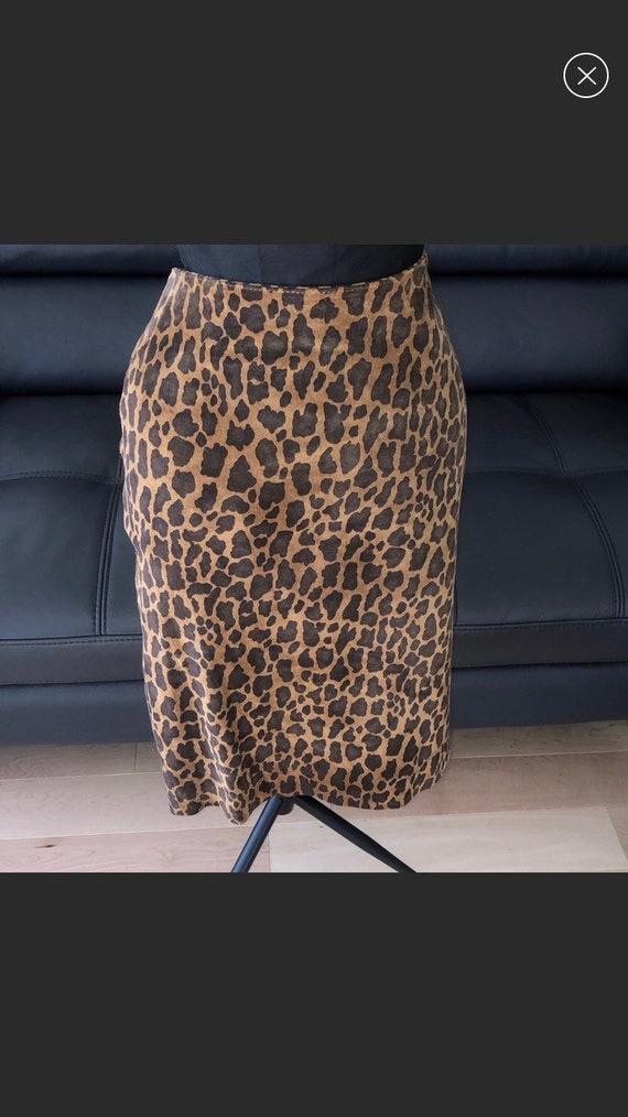 Danier leopard leather skirt