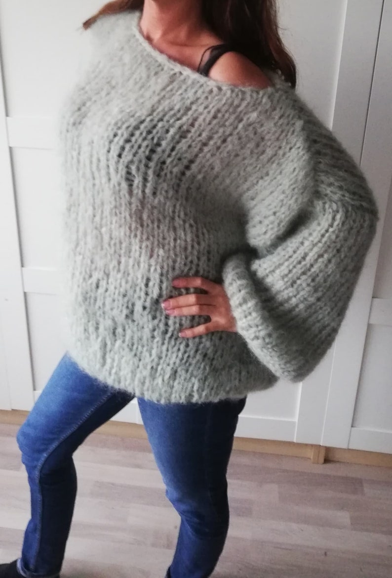 green mohair sweater mohair sweater to order oversized sweater