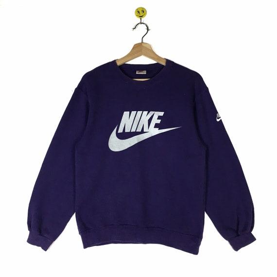 Rare!! Vintage 90s Nike Sweatshirt Big Logo Embroi