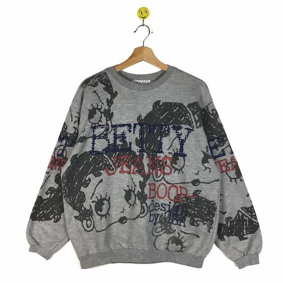 Rare!! Vintage Betty Boop Sweatshirt / Black Sweat