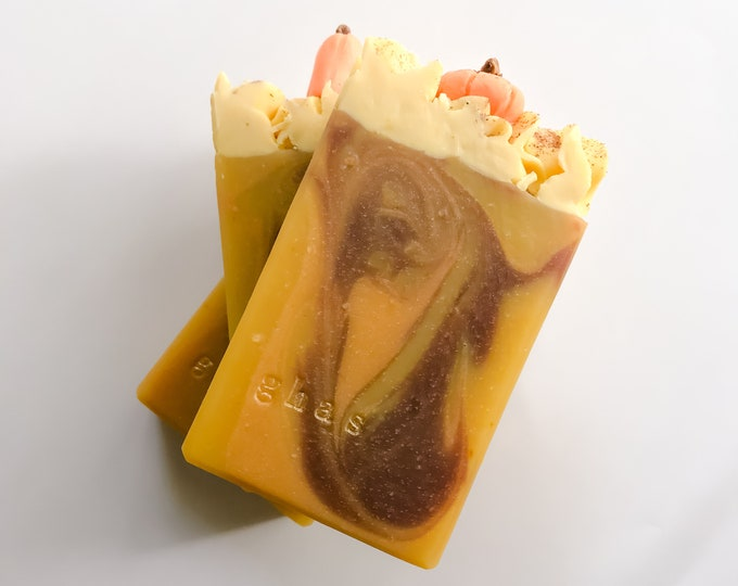 Featured listing image: 5 oz. Pumpkin Spice Soap with Organic Pumpkin Puree