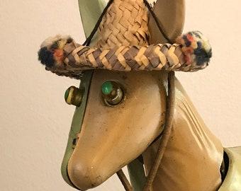 Very RARe LUGENES Japan OZARK Donkey BOBBLE Head Nodder Donkey Japan Cartoon Figurine Collectible Democrat Collectible ELECTIOn Time!