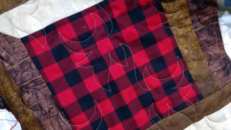 Lumberjacks lap size quilt