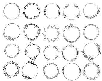 Floral Circle Svg Etsy
