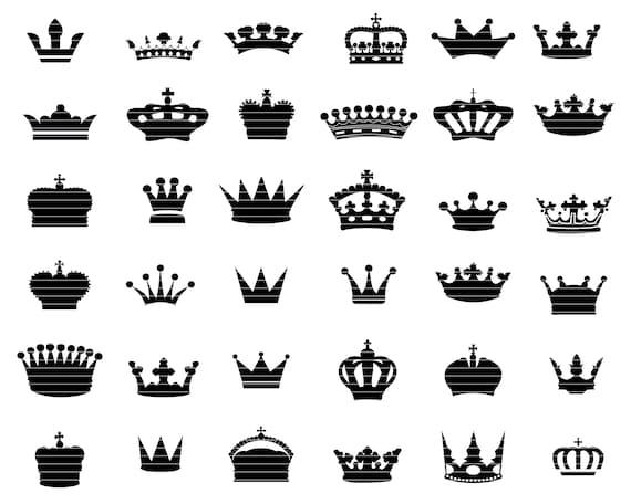 Crown Svg Bundle Queen Crown Svg King Crown Crown Vector Etsy