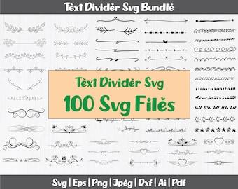 100 Text Dividers Svg Bundle   Ornamental text divider svg   Text Borders Svg   Text Ornaments Svg   Text Dividers Clipart   Text Dividers
