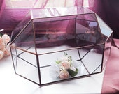 Glass card box wedding Clear money box