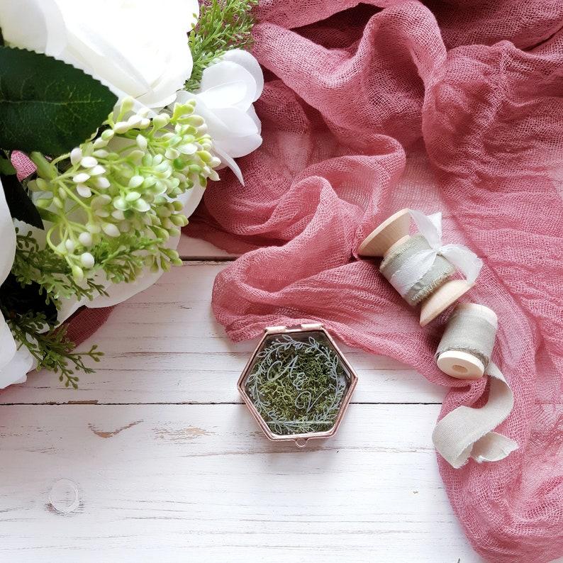 Mini glass ring box Mini ring bearer box Wedding ceremony ring storage