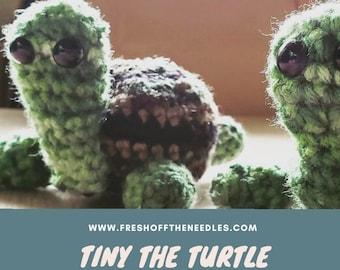 Tiny The Turtle Amigurumi Pattern Instant Digital Download PDF Fast Download Pattern Crochet Knitting Softies Toy Plush Plushie Turtle