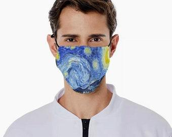 Starry Night mask Starry Night facemask Van Gogh mask van gogh facemask fine art mask fine art facemask stylish mask trendy artsy mask mask