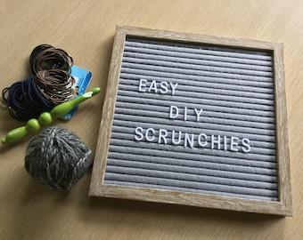 Simple Scrunchies Pattern Crochet DIY Easy How To Make Scrunchies Instant Digital Download