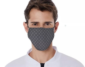 Skull Mask Black With Skulls Facemask Breathable Face Mask Black Skull Mask FaceMask Skull Mask Washable Face Mask Adult Skull Pattern