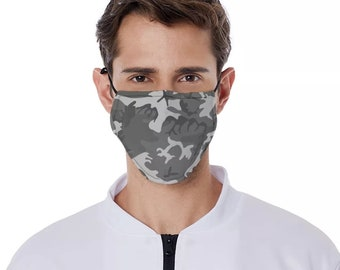 Camouflage mask Urban camo mask camouflage facemask camo facemask army facemask patriot mask with filter pocket and free carbon filter