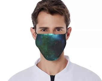 Galaxy Print Mask Nebula Facemask Galaxy print facemask galaxy mask starry sky mask