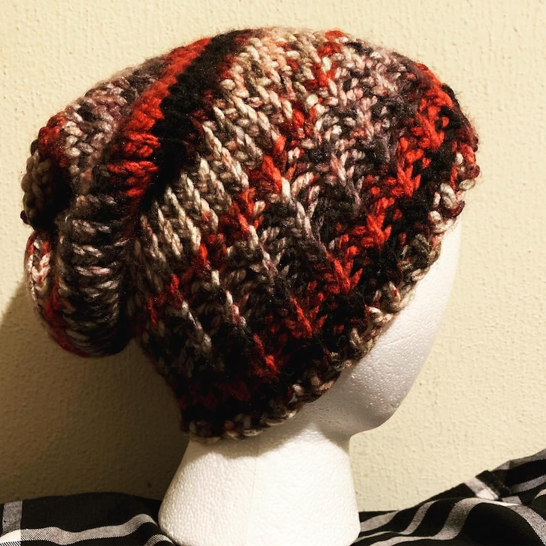 Slouchy Beanie Slouch Chunky Hat Hipster Floppy Loose Hat Hand  3550167b60c