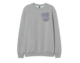 Buffalo Bills Sweatshirt Inspired Cotton Jumper Top Retro Patch Unisex Women 016a0aaf6