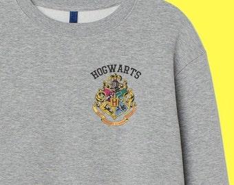 c47df85cd0094 Hogwarts HARRY POTTER sweatshirt Inspired Cotton Jumper top Retro Movie  Wizzard Kids Magic Unisex