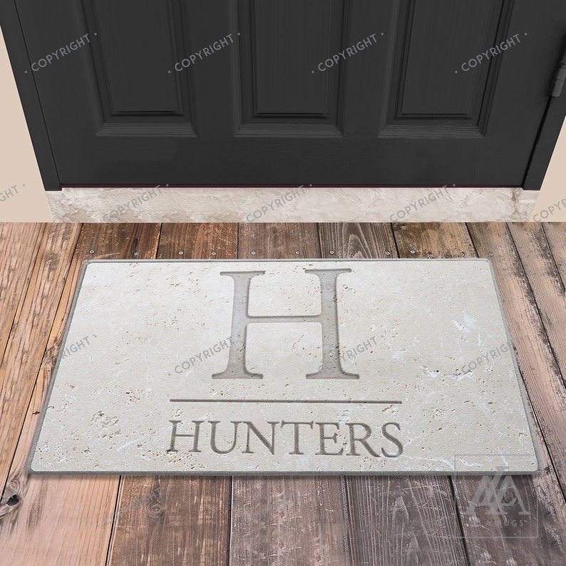 Design Your Own Personalized with Your Last Name and Initials Just Customized Personalized Door Sign for Home Decor