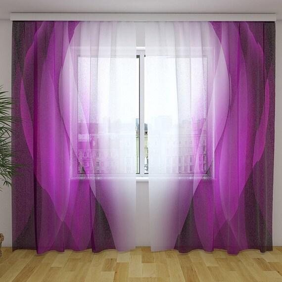 Purple sheer curtain panels Living room curtains Modern curtains