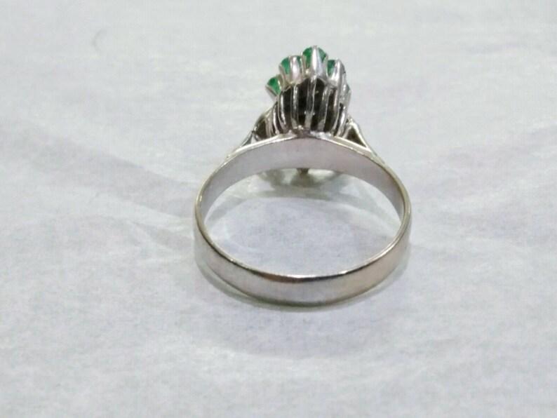 Vintage Art Deco RUBY /& EMERALD PALLADIUM Ring Size 7