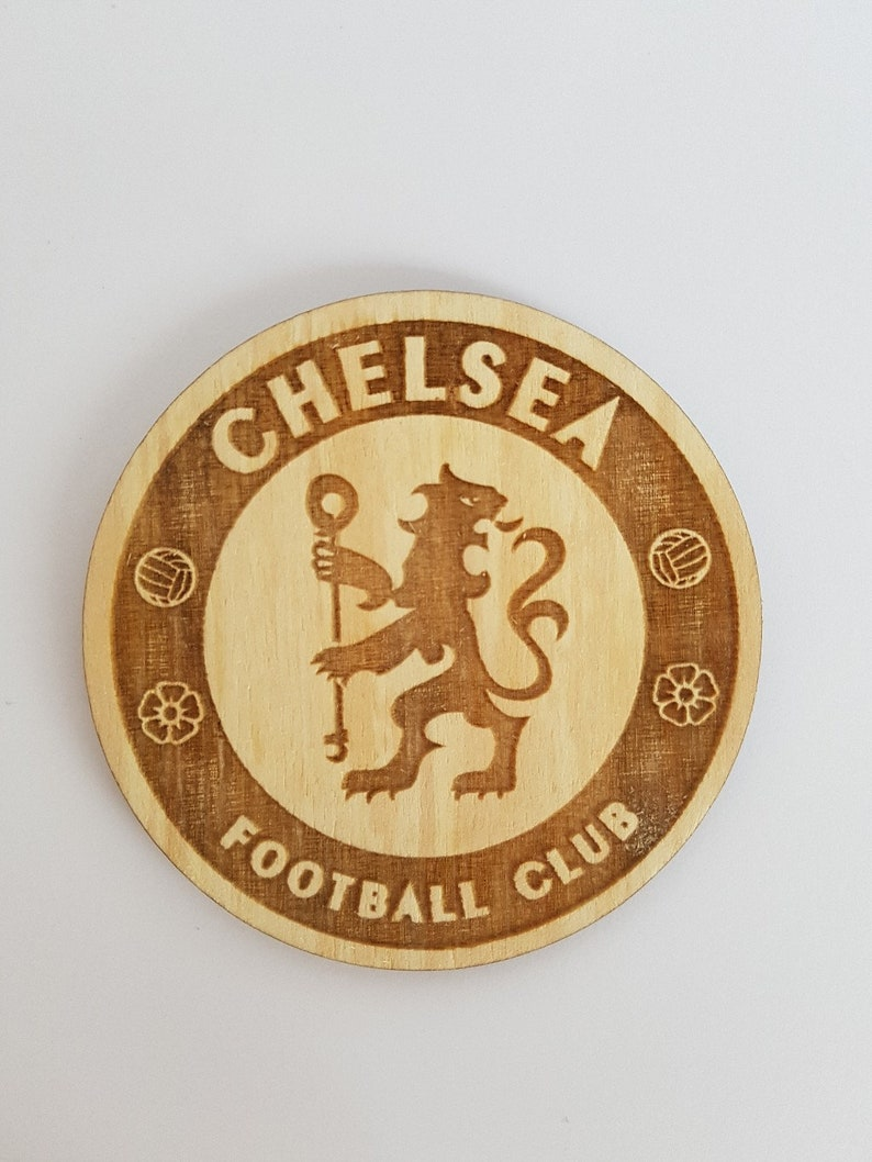 Chelsea Team Chelsea Logo Chelsea F C Inspired Wooden Coaster Great For Father S Day Football Team