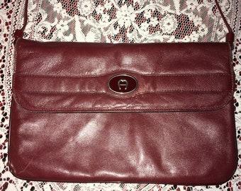 Vintage Oxblood Etienne Aigner Shoulder Bag 4170814cfc126