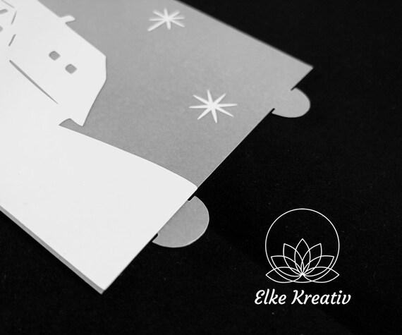 Svg Plotterdatei Windlicht Tischlicht Kerzenhalter Schwarzwaldhaus Für Papier Und Vinyl In 3d Licht Und Schatten Kerze Als Tischdeko