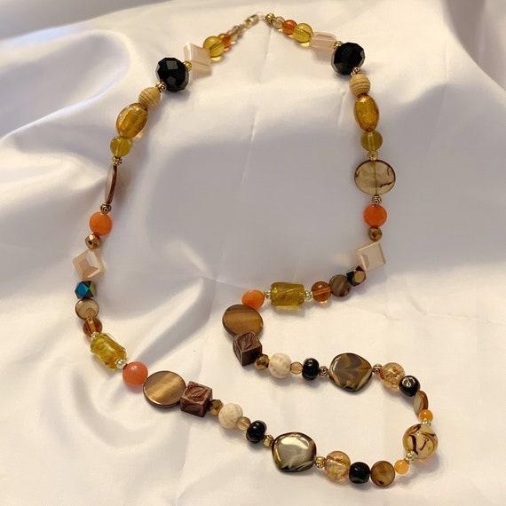 Yellow Earth Tones Glass Beaded Bracelet