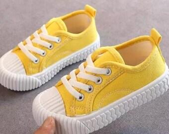 womens mustard trainers