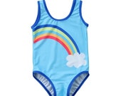 Over The Rainbow Toddler Girl One-Piece Swimsuit - UPF 50 - Quick Dry