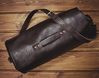 ccadc782ea Bag for Men and Woman BOUR. Hard leather. Handmade by KREPKO