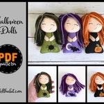 PDF Pattern - Cute Halloween Felt Plush Doll Sewing Tutorial