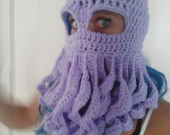 Crochet octopus beanie adult size 69a29db9facd