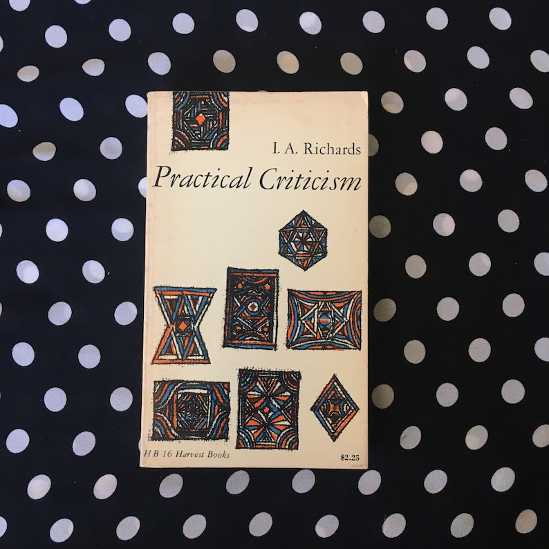 Practical Criticism: A Study of Literary Judgement by I.A. image 0