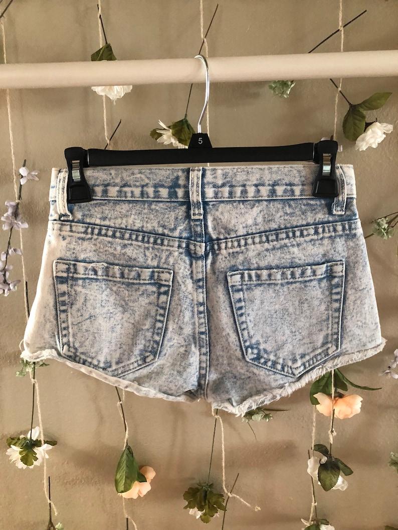 Forever 21 Acid Washed High Wasted Shorts