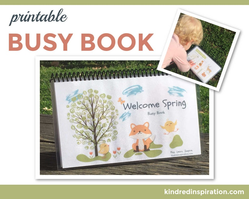 Spring Learning Busy Book Educational Quiet Book Easter image 0