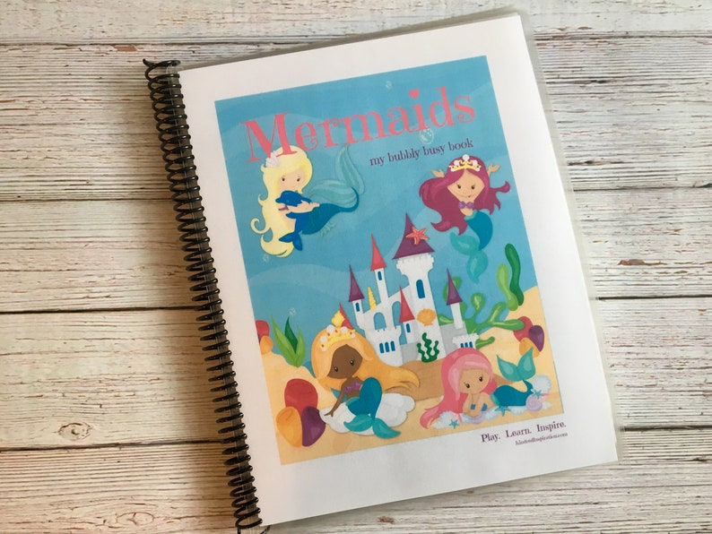Mermaid Kids Printable Busy Book Preschool Learning Binder image 0