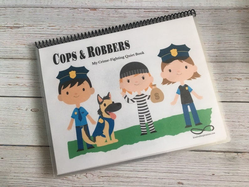 Cops and Robbers Quiet Book Educational Busy Book Learning image 0