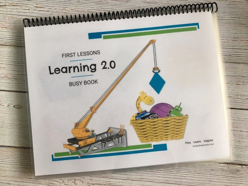 First Lessons: Learning 2.0 Printable Busy Book Educational image 0