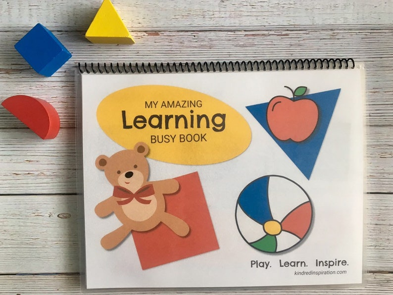 First Learning Busy Book Printable Toddler Quiet Book image 0