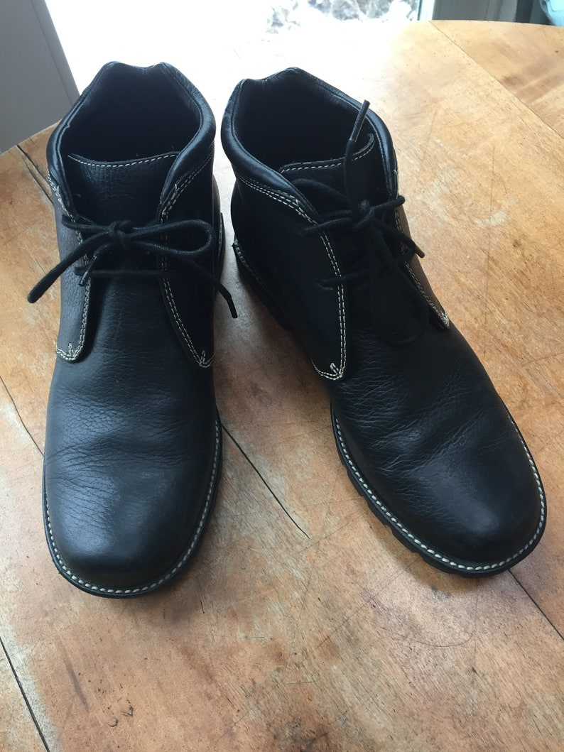 9c9de0621d1 Cole Haan Country Hiking Walking Boots Black Leather womens 9.5 B Hi Top