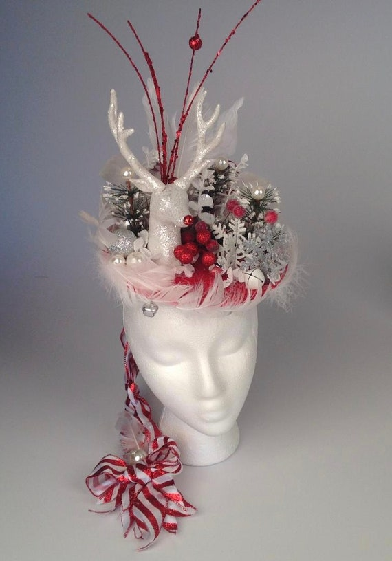 Party Women s Hat Fascinators Hats Christmas Rudolph  f4fd98af5b4
