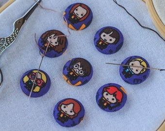 Harry Potter Magnetic Needle Minder Buttons || Small [23mm] Pair