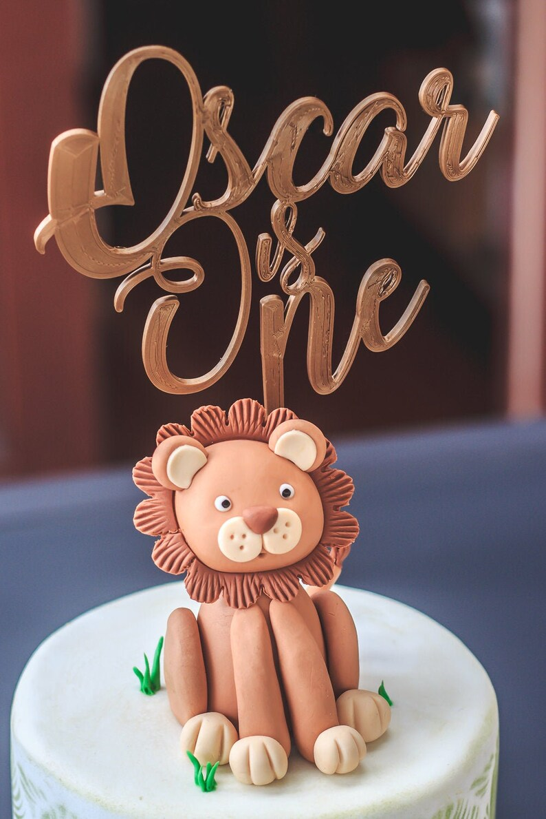 Personalised Name Is Age Custom Cake Topper  3D printed image 0